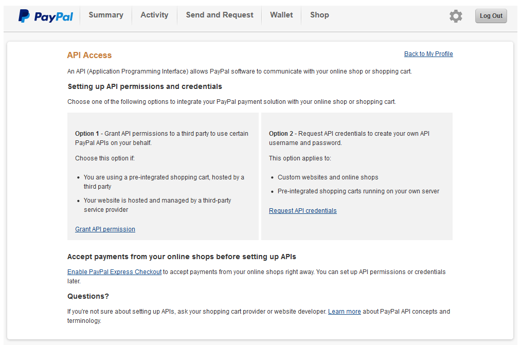Linking PayPal to your Live account - Sage Pay