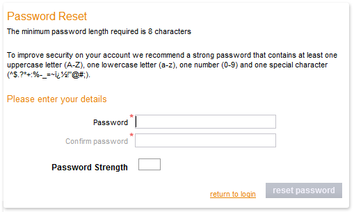 Forgotten your password - Sage Pay
